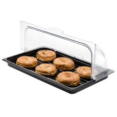 Sample and Display Tray Kit with Black Polycarbonate Tray and Roll Top Cover Puppy Store, Dish Display, Chafing Dishes, Food Trays, Food Shows, Deli, Farmers Market, Baked Goods, A Food