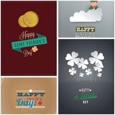 Holiday cards for St. Patrick's Day set vector | CGIspread | Free download