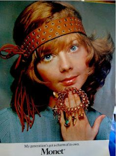Monet charm bracelet jewelry ad, ca. Tap the link now to see our super collection of accessories made just for you! Teen Jewelry, Jewelry Ads, Jewelry Bracelets, Jewelry Accessories, Fashion Jewelry, Vintage Accessories, Patti Hansen, Lauren Hutton, Vintage Costume Jewelry