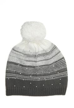 de0f061d4db Abstract-Striped Rhinestone Beanie (Kids)