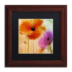 Color Bakery 'Penchant For Poppies II' Matted Framed Art