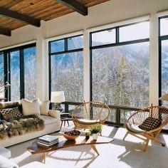 Interni casa in montagna di Aerin Lauder