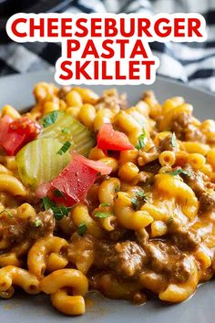 This Hamburger Helper Cheeseburger Pasta Skillet is a healthier homemade version! It takes less than 30 minutes to make, tastes way better, and you control the sodium!  #skilletmeal #cheeseburgerskillet Pasta Dinner Recipes, Easy Pasta Recipes, Perfect Pasta Recipe, Homemade Cheeseburgers, Recipes Using Ground Beef, Meals Kids Love, Cheeseburger Pasta, Hamburger Helper, Quick Easy Meals