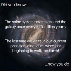 i wonder what the earth will be like and will it be alive when it returns to this point in space the next time.