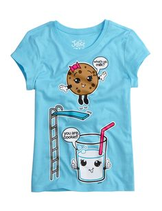 Milk And Cookie Graphic Tee   Foods   Graphic Tees   Shop Justice