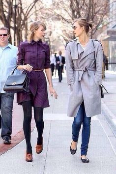 Taylor and Karlie Kloss in NYC today! 03.04.14 <3