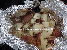 Les plats cuisinés de Esther B: Les meilleures patates sur le BBQ