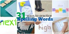 Try one of these 31 Ways to Practice Spelling Words to take the boredom out of spelling practice with fine motor, gross motor, sensory activities or more. Spelling Word Practice, Grade Spelling, Spelling Words, Spelling Activities, Class Activities, Sensory Activities, Learn To Spell, First Grade Writing, Phonics Reading