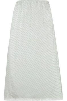 Maison Margiela - Lace-trimmed Jacquard Midi Skirt - Light gray - IT