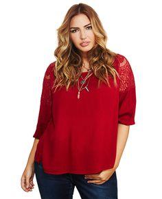 Flowy Crochet Keyhole Blouse | Wet Seal+ #crochet #keyhole #blouse