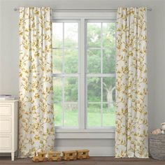 Mustard Yellow Eucalyptus Drape Panel made with care in the USA by Carousel Designs. Window Drapes, Curtains, Yellow Nursery, Free Fabric Swatches, Carousel Designs, Drapery Panels, Rod Pocket, Mustard Yellow, Bedrooms