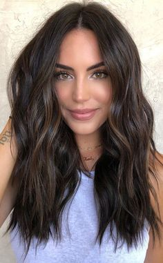Brown Hair Balayage, Balayage Brunette, Brunette Highlights, Dark Hair Lowlights, Dark Hair Balyage, Asian Balayage, Dark Balayage, Fall Highlights, Dark Hair With Highlights