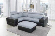 Rohová rozkládací sedací souprava s úložným prostorem, levé provedení, látka Savana 21, ekokůže černá, MONAKO Outdoor Sectional, Sectional Sofa, Couch, Outdoor Furniture, Outdoor Decor, Home Decor, Living Room, Modular Couch, Settee