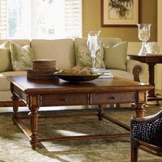 Tommy Bahama by Lexington Home Brands Island Estate Boca Square Wood Cocktail Table - Living Room Photos, Living Room Sets, Living Room Designs, Tommy Bahama, Fine Furniture, Living Room Furniture, Coastal Furniture, Furniture Ideas, Pottery Barn