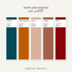 36 Colors Palettes Organized by Mood — Jordan Prindle Designs Pantone Colour Palettes, Color Schemes Colour Palettes, Colour Pallette, Pantone Color, Color Combos, Bedroom Color Palettes, House Color Palettes, Orange Color Palettes, Modern Color Schemes