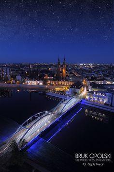 Opole at night