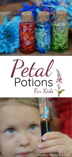 The spring activity is so much fun. Make Flower petal potions!
