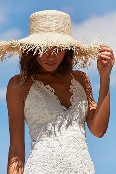 Playa Fringed Brim Floppy Hat | Urban Outfitters