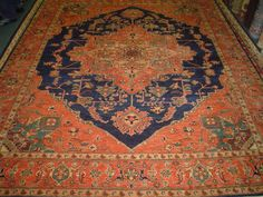 "8'1"" x 9'10"" Heriz rug, woven in Afghanistan.  On hold."