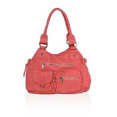 11241ad2f08a AFONiE Washable Soft Multi Pocket Shoulder Bag CA-WS010 Tan Handbags,  Handbags Online,