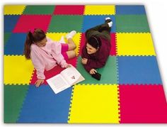 So many of you moms out there who own one of these foam play mats can turn them into painted rugs. Love it!