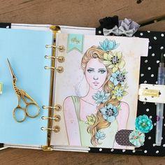 Coloring + Planners? YES! We will be coloring away at our Planner Launch party on Saturday in Sharon's class! Here's just one sample of the beautiful planner divider you will be creating with our watercolor + planner products! #mpp #myprimaplanner #launchparty #plannerlove #myprimaplannergirls #planneraddict #plannerembellishments #coloringplanner