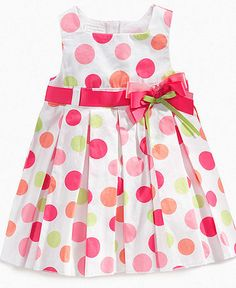 New First Impressions Baby Girls Polka Dot Dress White Pink Cotton Bow size Newborn Girl Outfits, Toddler Girl Outfits, Little Girl Dresses, Toddler Dress, Baby Dress, Kids Outfits, Girls Dresses, Dot Dress, Dress Anak
