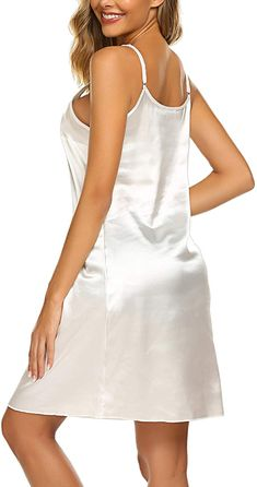 a8560db7039 Avidlove Women Lingerie Satin Full Slip Strap Chemises Midi Sleepwear at  Amazon Women's Clothing store: