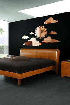 Sun and Clouds Reflective Wall Decal by WALLTAT.com
