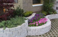 Yard Stones, Retaining Wall Design, Outdoor Fun, Outdoor Decor, Home Landscaping, Garden Projects, Amazing Gardens, Garden Inspiration, Outdoor Gardens