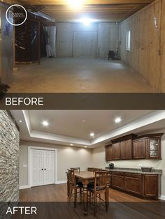 85 best before after finished basement projects images basement rh pinterest com Unfinished Basements Before and After Home Remodels Before and After