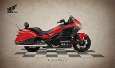 Honda Gold Wing Print By Mark Rogan