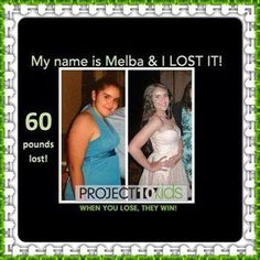 How you can do it too!..... More Fitness Motivation at our blog  Melba is a 15-year-old who lost 60 pounds on her Challenge! Project 10 is about the KIDS! Lose 10 pounds on your Challenge and you could win 1,000 dollars! Every time an adult loses, the Kids WIN! When an adult enters to WIN $1000 with Project 10, Vi sends meals to kids in need!