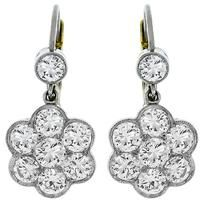 Diamond Platinum Gold Earrings | Israel Rose