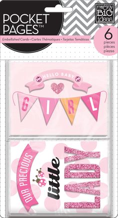 Embellished Cards - Baby Girl