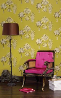 Osborne and little la design concepts Osborne And Little Wallpaper, Wall Wallpaper, Wallpaper Ideas, Interior Styling, Interior Design, Apartment Furniture, Designer Wallpaper, Decoration, Home Furnishings