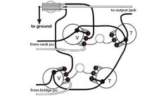 gibson les paul custom  u2013 standard 3 pickup schematic