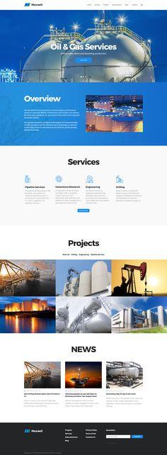 Oil And Gas Company WordPress Theme