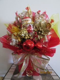 christmas candy bouquet by Ana