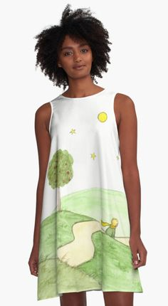 """""""The Little Prince"""" A-Line Dress by @savousepate on @redbubble #watercolor #painting #drawing #fashion #clothing #apparel"""