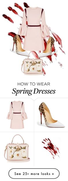 """Spring look / Halloween"" by glia008 on Polyvore featuring Roksanda, Christian Louboutin and Dolce&Gabbana"