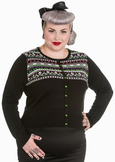 Domino Dollhouse - Plus Size Clothing: Macabre Cardigan