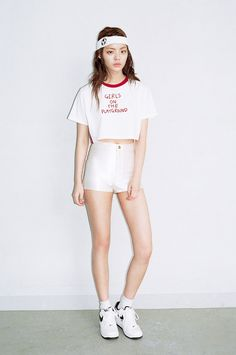 GIRLS ON THE PLAYGROUND CROP TOP by O!Oi