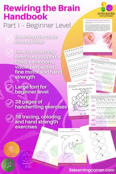 Handwriting Exercises: A little unknown secret for grounding your child's emotions #ilslearningcorner #handwriting #childdevelopment #teachers #finemotorskills #tracing #handstrengthening #parentresources  #specialeducation #handwritingexercises #emotionkids  #handstrength #rewiringthebrain #emotionalgroundingkids #motorskills #attentionkids #focuskids #visualperception #handeyecoordination #impulsecontrol #sensory Handwriting Exercises, Auditory Processing Disorder, Emotional Child, Math Facts, Strength Workout, Learning Disabilities, Dyslexia, Comprehension, Parenting Hacks