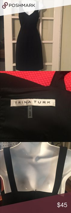"Trina Turk Dress Gorgeous little black dress sz 8. Made with 69%rayon,29%nylon, 2%spandex. Bust-18""across, waist-30, length-38.5"" Trina Turk Dresses"