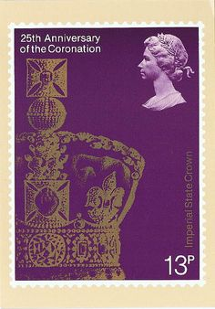 GB_103037_PHQ_25th_Anniversaryof the Coronation    PHQ Cards are postcards depicting the design of a commemorative stamp issued by the Royal Mail/British Post Office.    en.wikipedia.org/wiki/PHQ_Cards    25th Anniversary of the Coronation - The Imperial State Crown.  Reproduced from a stamp designed by Jeffery Matthews MSIAD and issued by the Post Office on 31 May 1978.    Sent to Brazil in October 2009.
