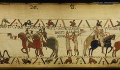 Bayeux Tapestry 21. Here William gave arms to Harold