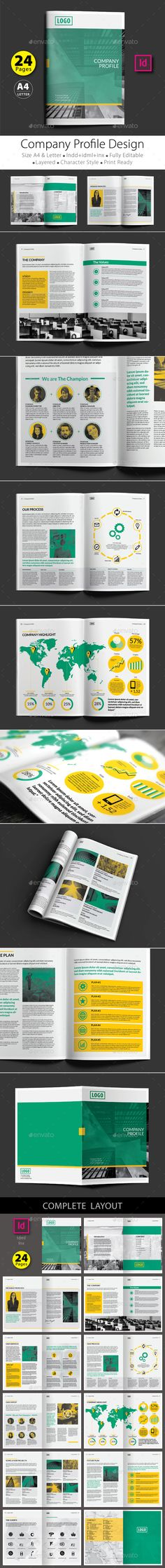 ... Company Profile Brochure Template InDesign INDD Company Profile   Professional  Business Profile Template ...  Professional Business Profile Template