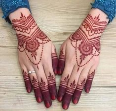New and Trendy Bridal Mehndi designs that will rule hearts! -You can find Mehndi and more on our website.New and Trendy Bridal Mehndi designs that will rule hearts! Henna Hand Designs, Dulhan Mehndi Designs, New Bridal Mehndi Designs, Mehndi Designs Finger, Modern Mehndi Designs, Mehndi Design Pictures, Beautiful Mehndi Design, Bridal Henna, Mehendi