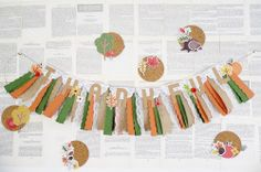 Thanksgiving Banner by Soraya Maes for We R Memory Keepers Thanksgiving Banner, Thanksgiving Celebration, Thanksgiving Decorations, Thankful Heart, We R Memory Keepers, Season Colors, Color Combos, Garland, Punch Board